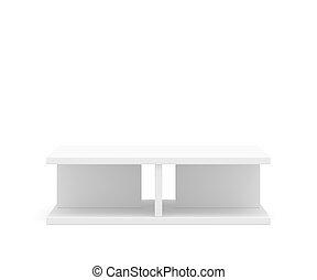 Empty podium for exhibition