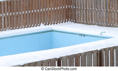 Empty Pool on winter.