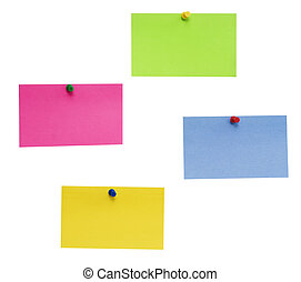 empty post-it - empty color post-it isolated over white...