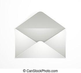 Empty postal envelope over wooden background realistic vector paper illustration, graphic design element message greeting mail mockup.