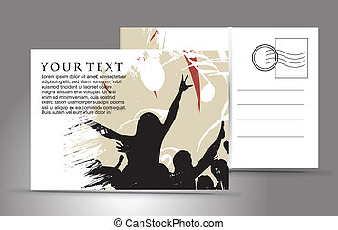 empty postcard - empty post card, isolated on illustration...