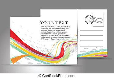 empty postcard - empty post card, isolated on illustration ...
