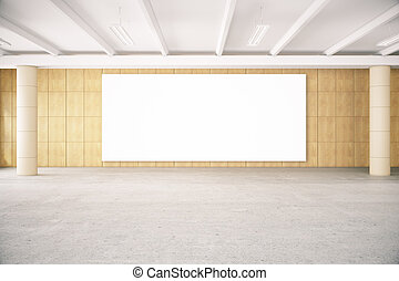 Empty poster in room