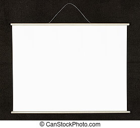 Empty projection screen