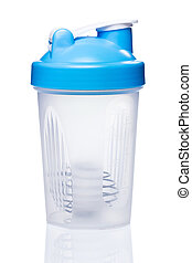 Empty protein shaker with metallic ball