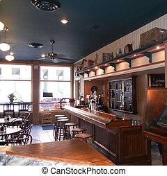 Empty pub - Vintage pub early afternoon