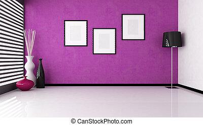 empty purple interior