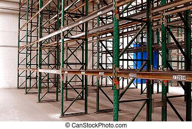 Empty used rack system