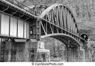 Empty railway bridge in Slovakia