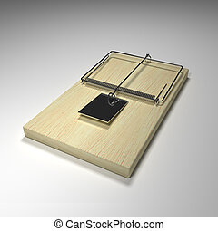 Empty Rat trap - simply insert your own bait for a risky...