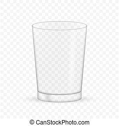 Empty realistic transparent glass. Vector stock illustration.