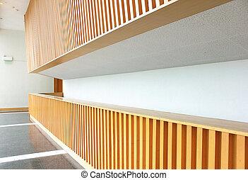 Empty reception area in an office block