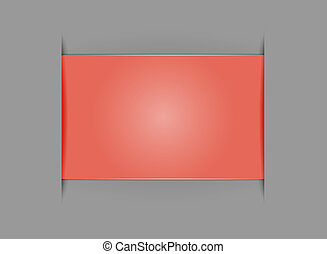 empty rectangle template - Red empty rectangle with the...