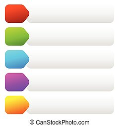 Empty rectangular button, banner backgrounds. Vector art.