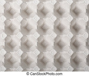 Empty recycled paper tray of eggs background. - Texture of...