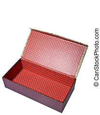Empty red box isolated on white with space for your text