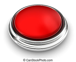 empty red button on white background