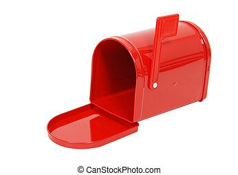 Empty Red Mailbox