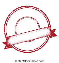 empty red ribbon