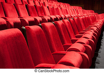 red seats - Empty red seats for cinema, theater, conference...