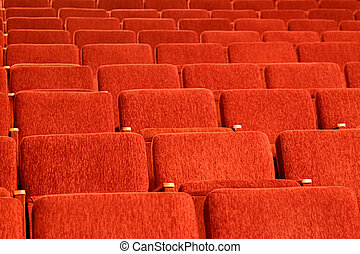 Empty red seats of the auditorium