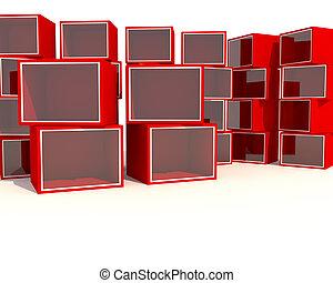 Empty red Showcase