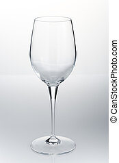 Empty red wine glass
