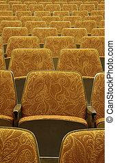 empty red wooden cinema/t