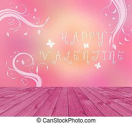 Happy Valentine text written on pin