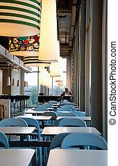 Empty restaurant in Ikea store