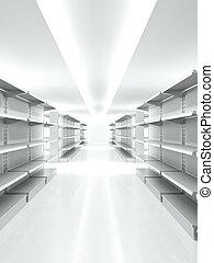 Empty retail shelves
