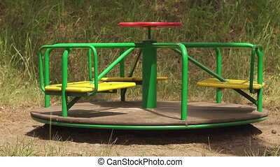 empty retro carousel motion