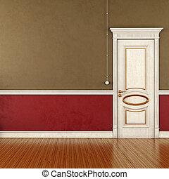 Empty retro room
