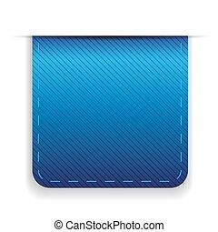 Empty ribbon vector blue