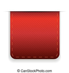 Empty ribbon vector red