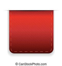Empty ribbon vector red