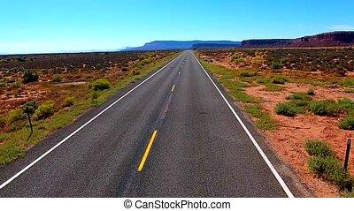 Empty Road Aerial