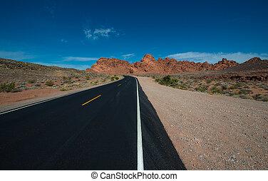 Empty Road Valley of Fire Highway