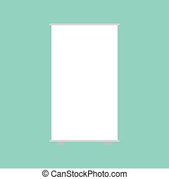 empty roll up banner