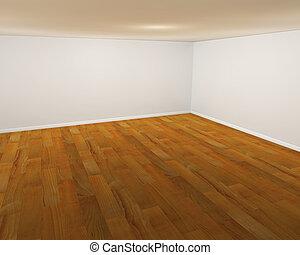Empty room - 3D render of an empty room