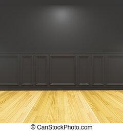 empty room black decorated