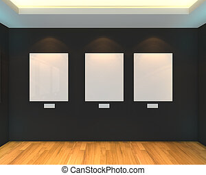 empty room black gallery