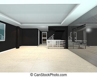 black living interior design