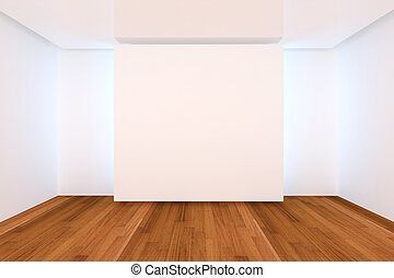 empty room color wall and wood floor - Home interior...