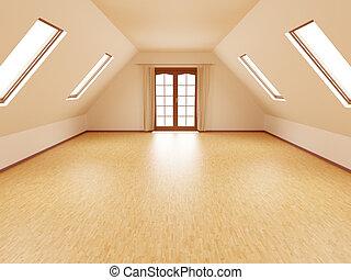 empty attic or loft room