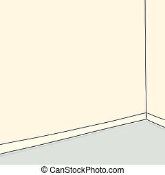 Empty Room - Empty hand drawn cartoon room background