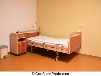 nursing home - empty room in a nursing home