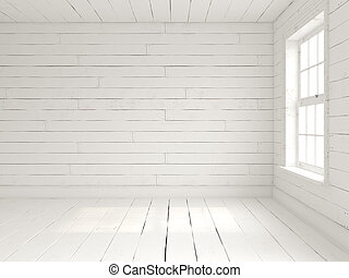 empty room in marine style 3d illistration - empty room in...