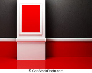 empty room in the contrast colors