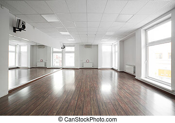 empty room in the sport club